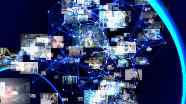 Social-Networking-Service-Konzept. Kommunikationsnetz. – Foto