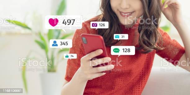 Koncepcja Usługi Sieci Społecznościowych Influencer Marketing - zdjęcia stockowe i więcej obrazów Aplikacja mobilna