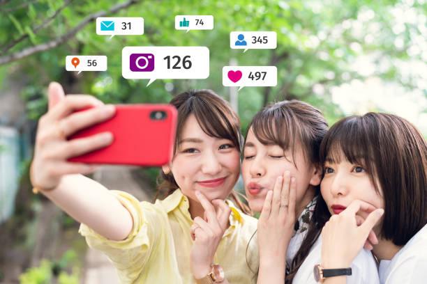 ソーシャルネットワーキングサービスの概念。インフルエンサーマーケティング。 - facebook ストックフォトと画像