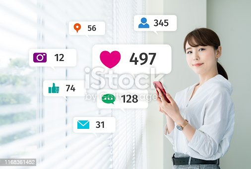 istock Social networking service concept. Influencer marketing. 1168361452
