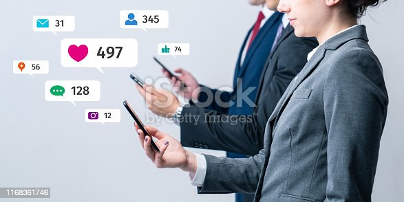 istock Social networking service concept. Influencer marketing. 1168361746