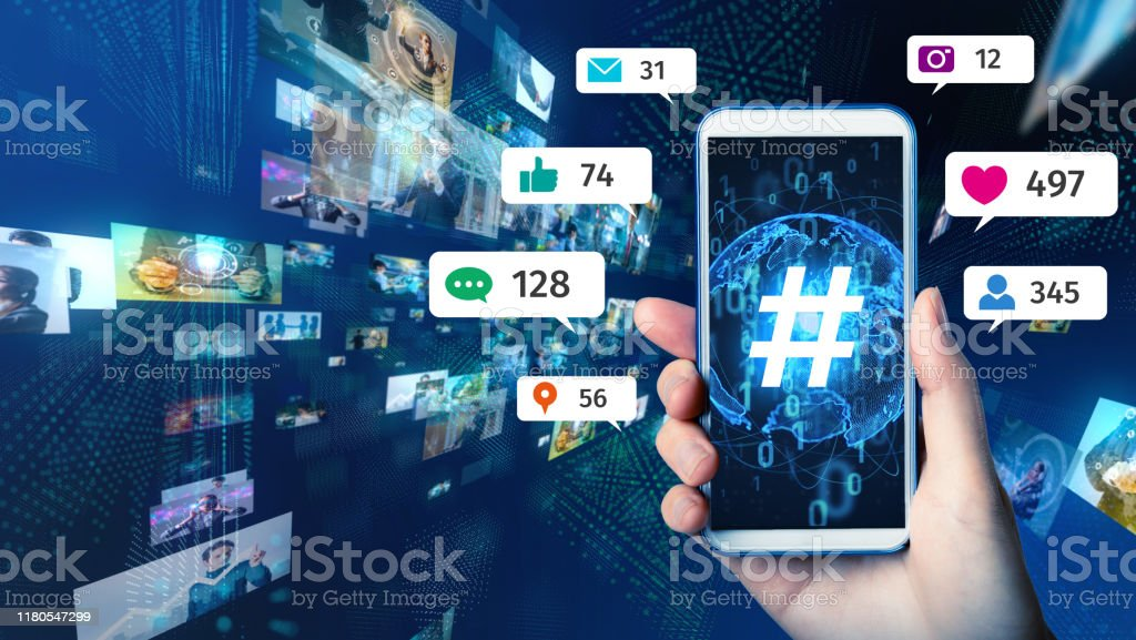 Social networking service concept. Streaming video. - Royalty-free Abstract Stock Photo