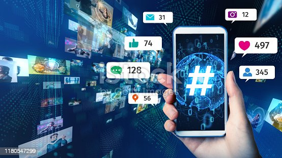 1125605742istockphoto Social networking service concept. Streaming video. 1180547299