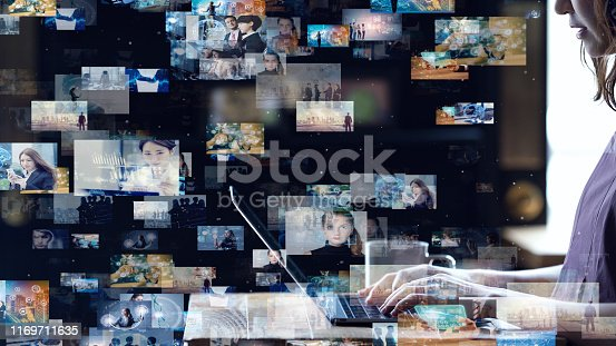 1146418904 istock photo Social networking service concept. Streaming video. Video library. 1169711635