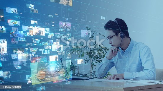 913641852 istock photo Social networking service concept. Streaming video. Video library. 1194783088