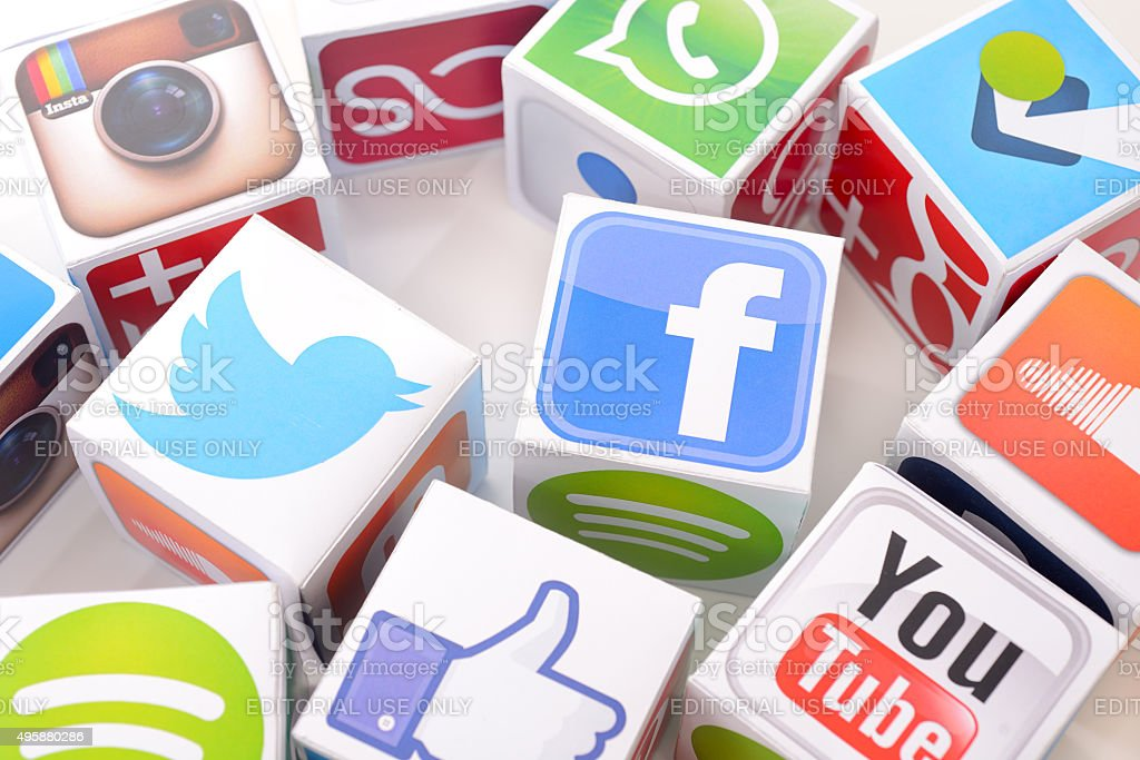 Social networking services icons stock photo