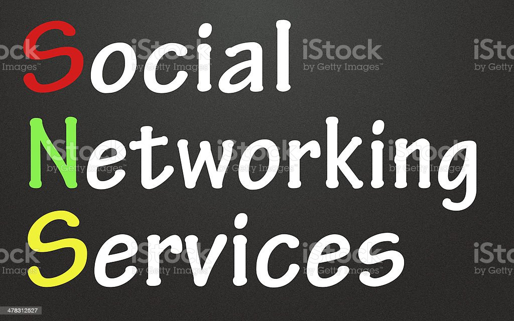 social networking services title royalty-free stock photo