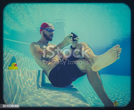 istock Social networking underwater: toy camera effect 504006066