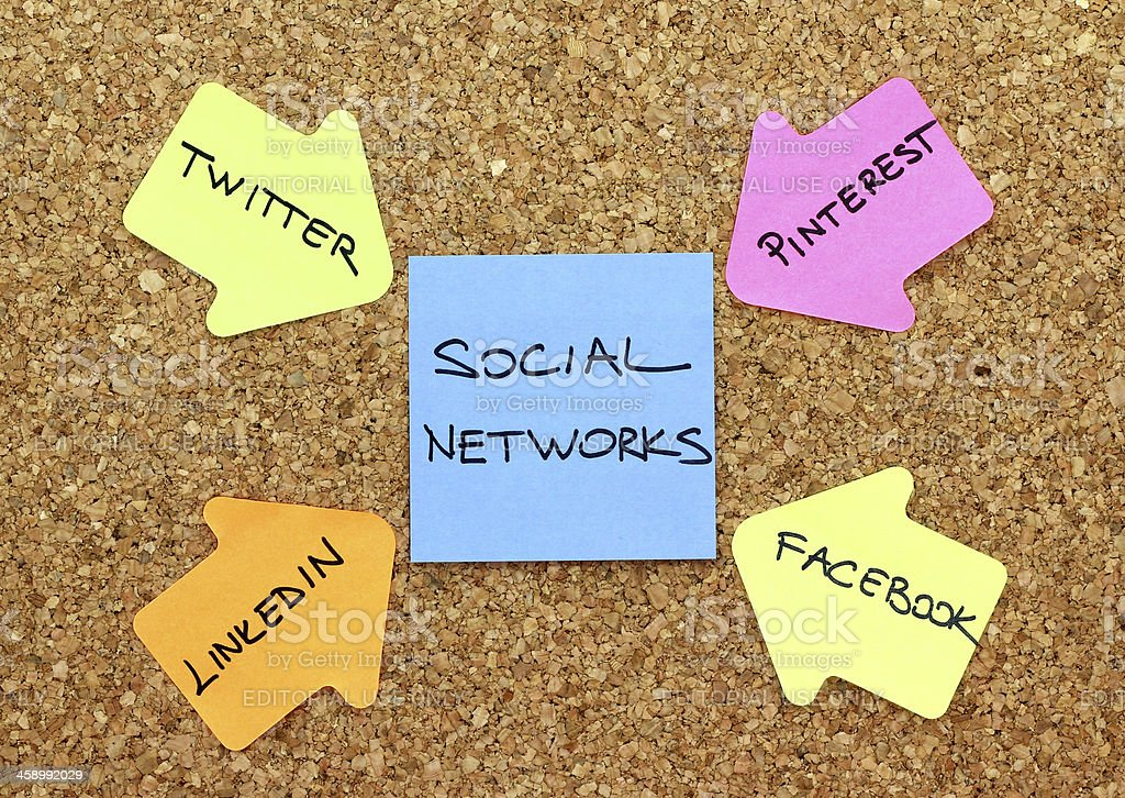 Social Networks royalty-free stock photo