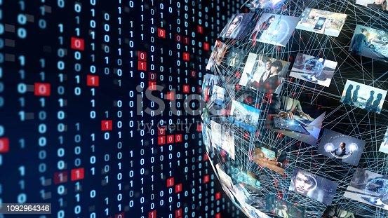 istock Social netwroking concept. 1092964346