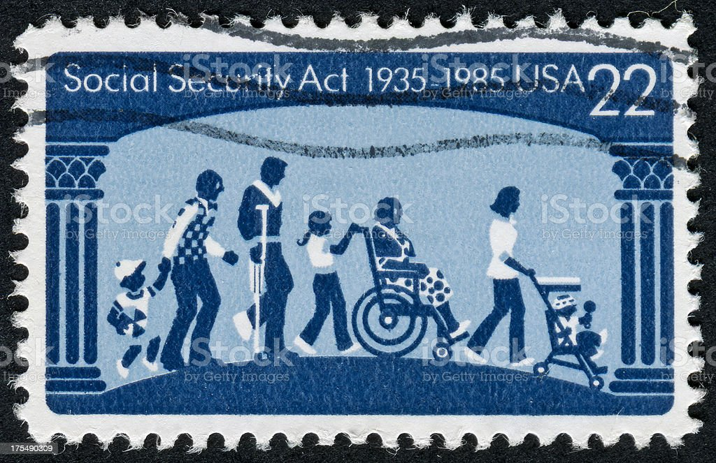 Social Security Act Stamp stock photo