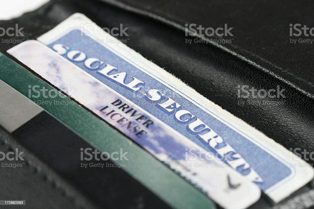Social Security & I.D. Cards stock photo