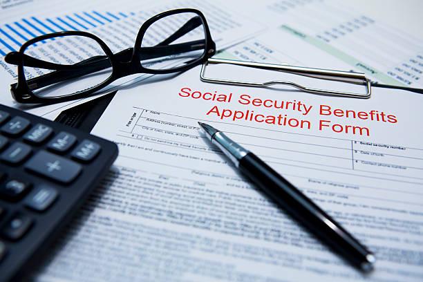 de segurança social benefícios formulário de inscrição - previdencia social - fotografias e filmes do acervo