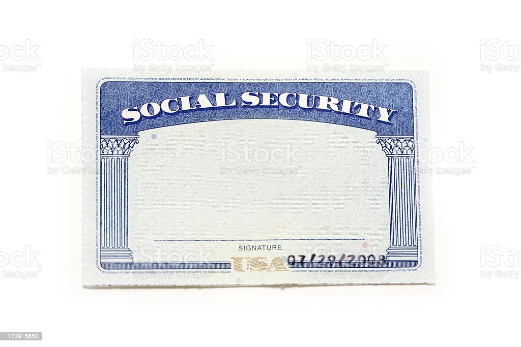 Stock Color Istock amp; - Of More Social Security Photo Pictures Card Image