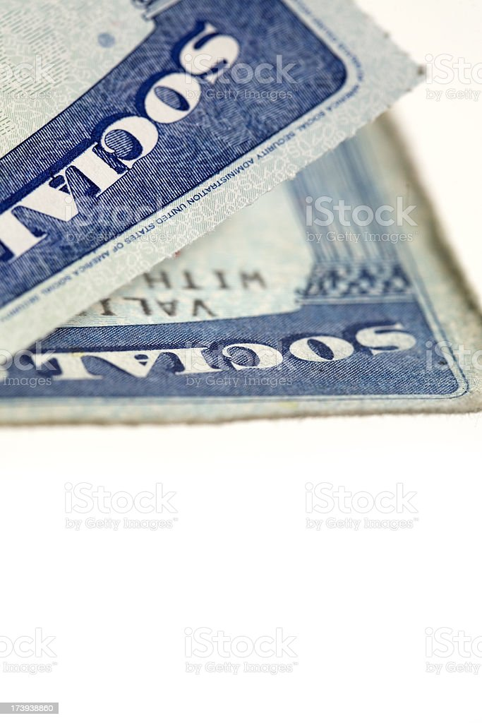social security card royalty-free stock photo