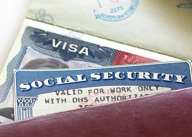 Social Security Card American Visa and Social Security Card with '