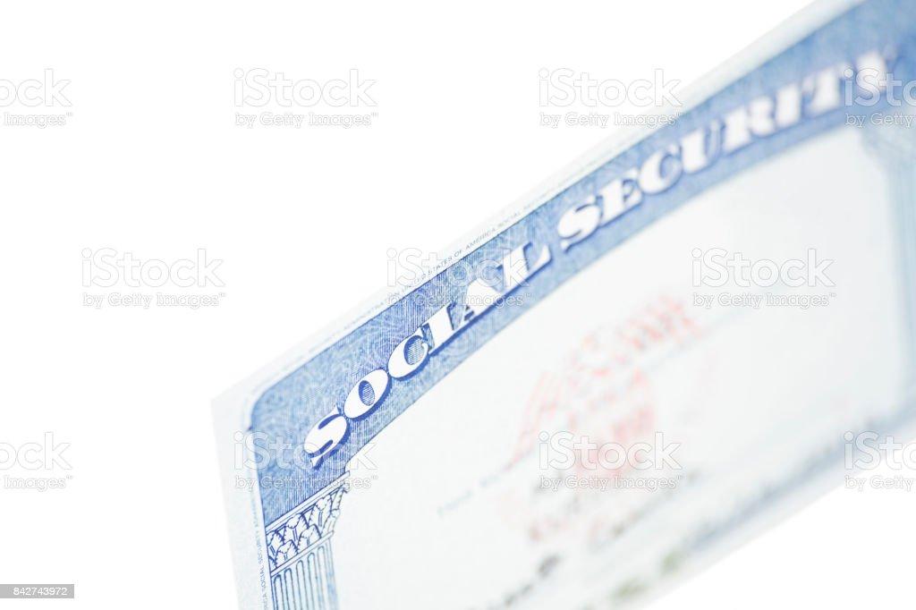 Social Security Card stock photo
