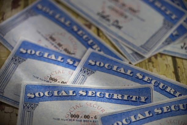 social security card studio shot of social security card social security stock pictures, royalty-free photos & images