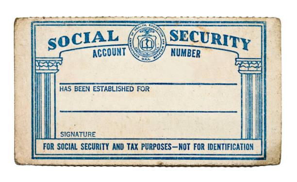 ソーシャルセキュリティカード - id盗難 ストックフォトと画像
