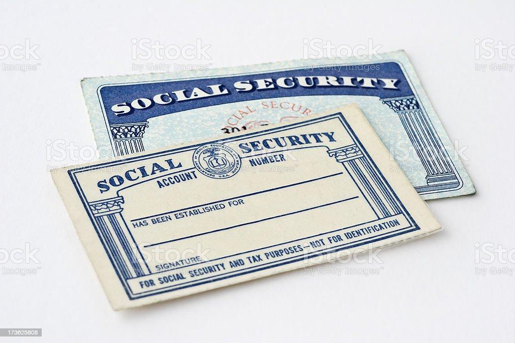 Social Security Cards stock photo