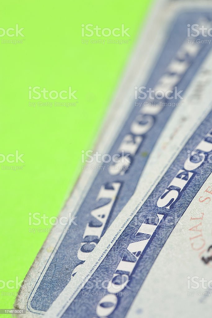 Social security cards royalty-free stock photo
