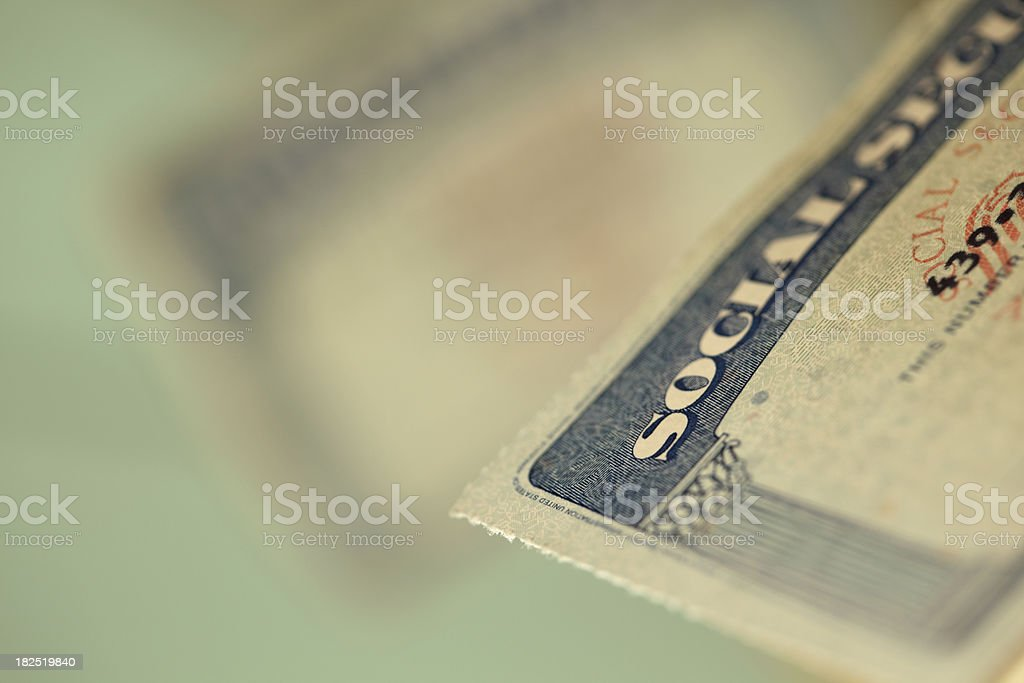 Social security cards stock photo