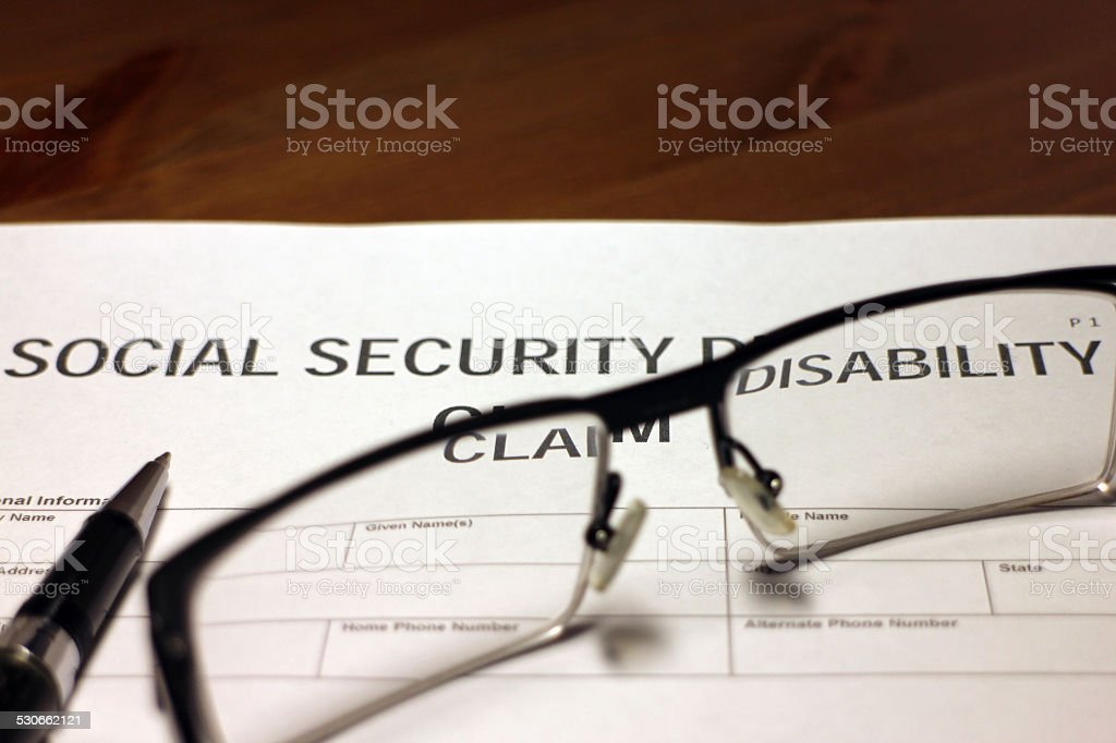 Social Security Disability Application stock photo