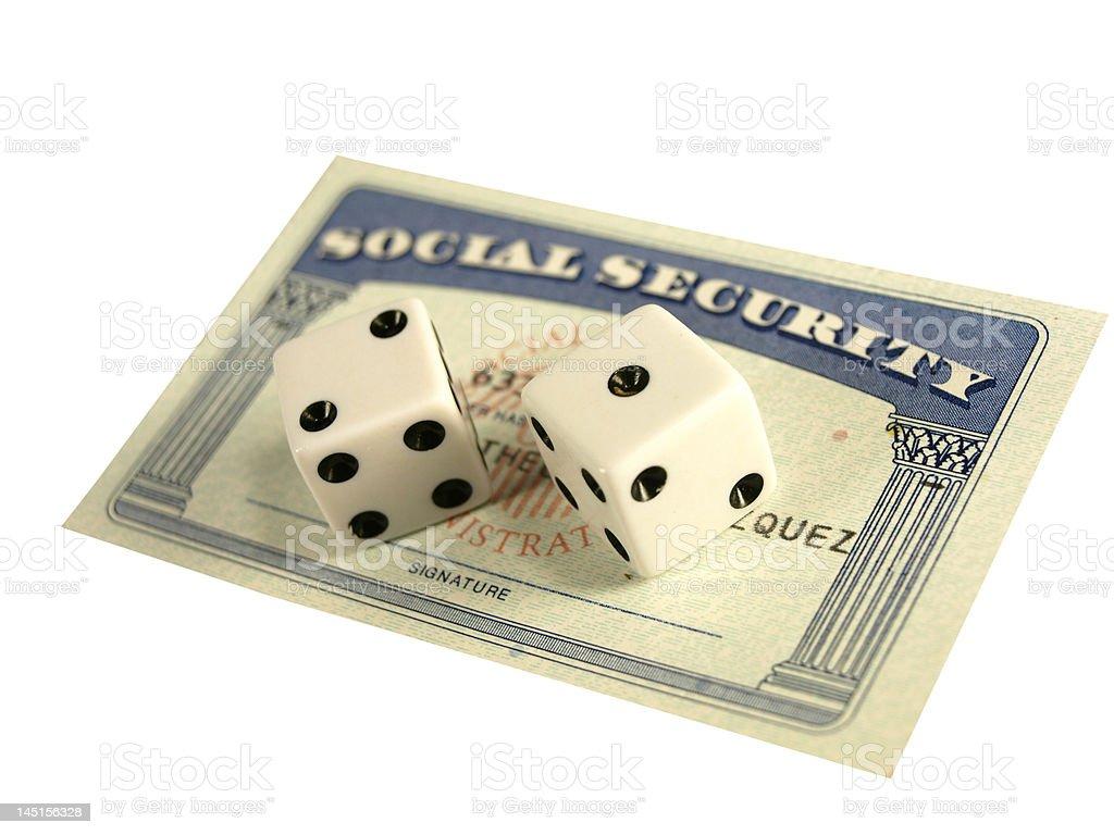 Social Security Gamble stock photo