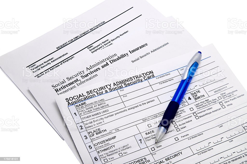 Social Security Information stock photo