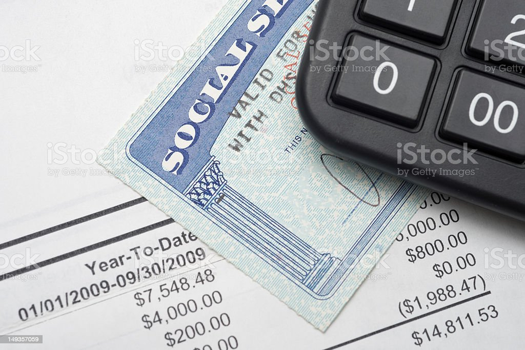 Social security royalty-free stock photo