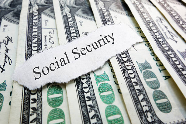 social security - social security check stock photos and pictures