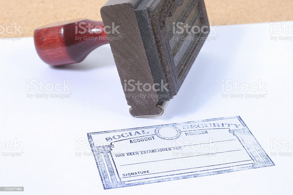Social security stamper royalty-free stock photo