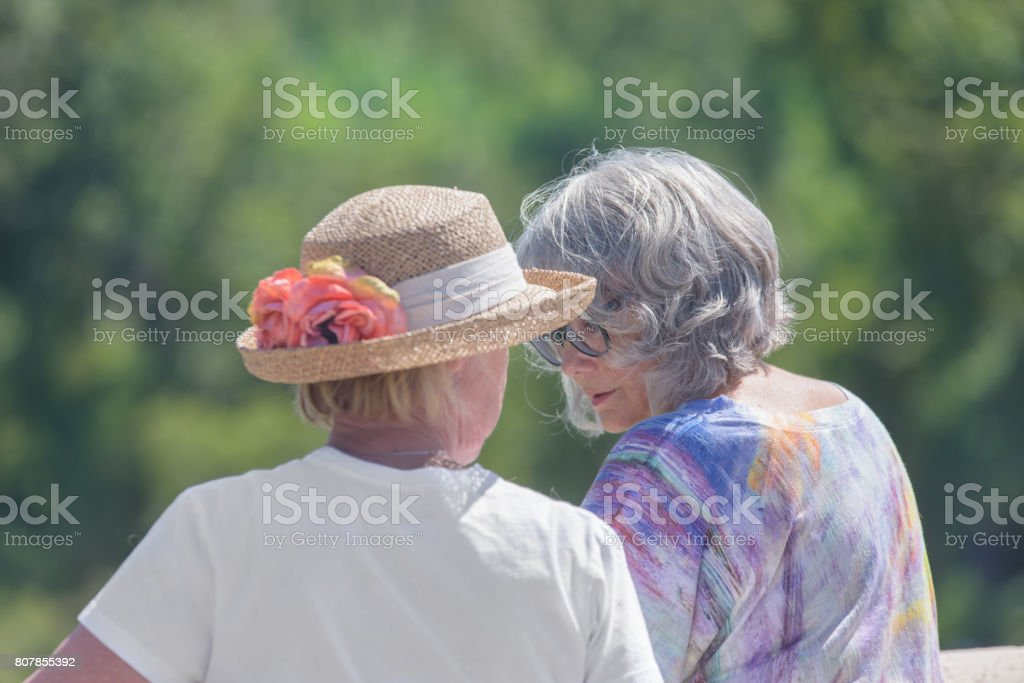 Social Seniors stock photo