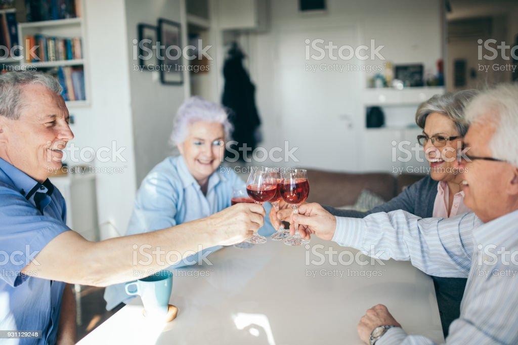 Sosyal yaşlılar - Royalty-free 70-79 Yaş Arası Stok görsel