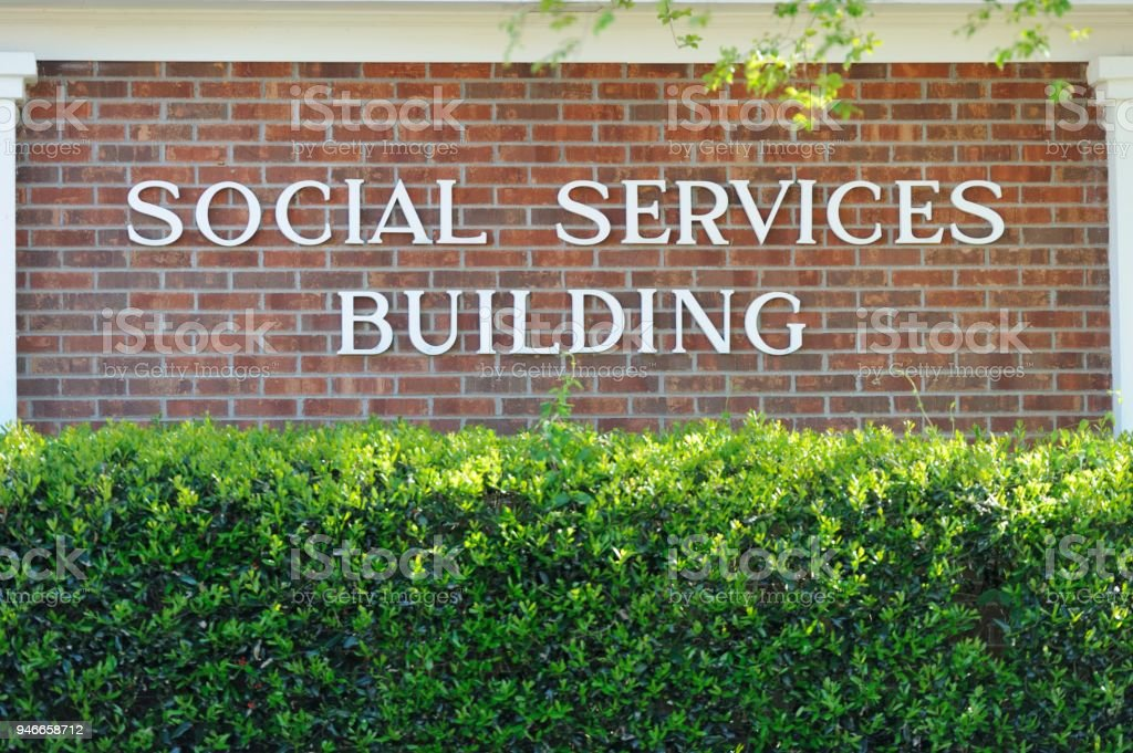 Social Services Building stock photo