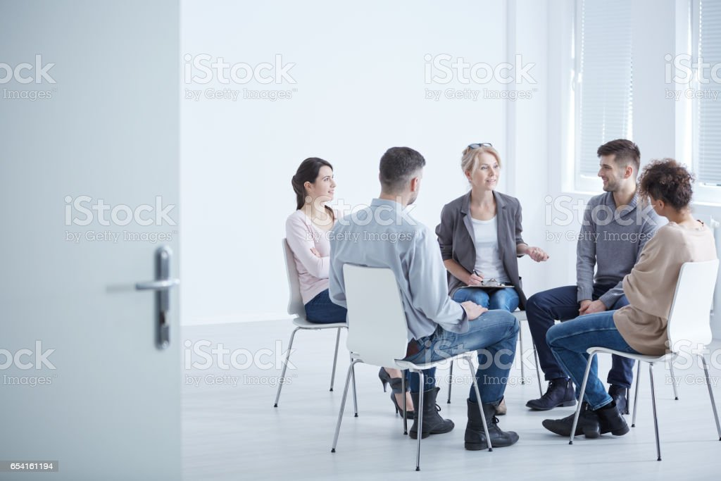 Social skills training stock photo