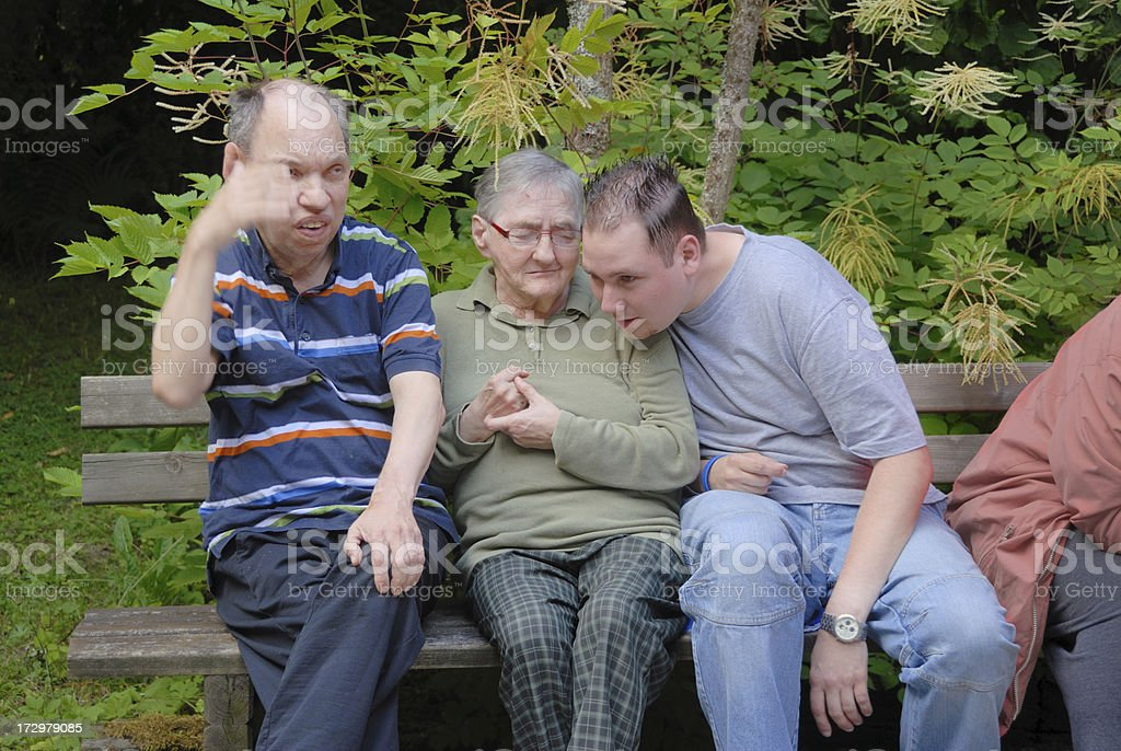social worker - listening royalty-free stock photo