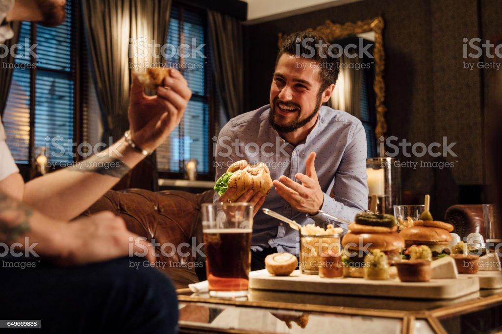 Socialising Over Food stock photo