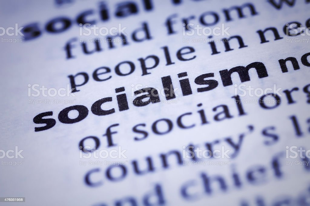 Socialism: Dictionary Close-up stock photo
