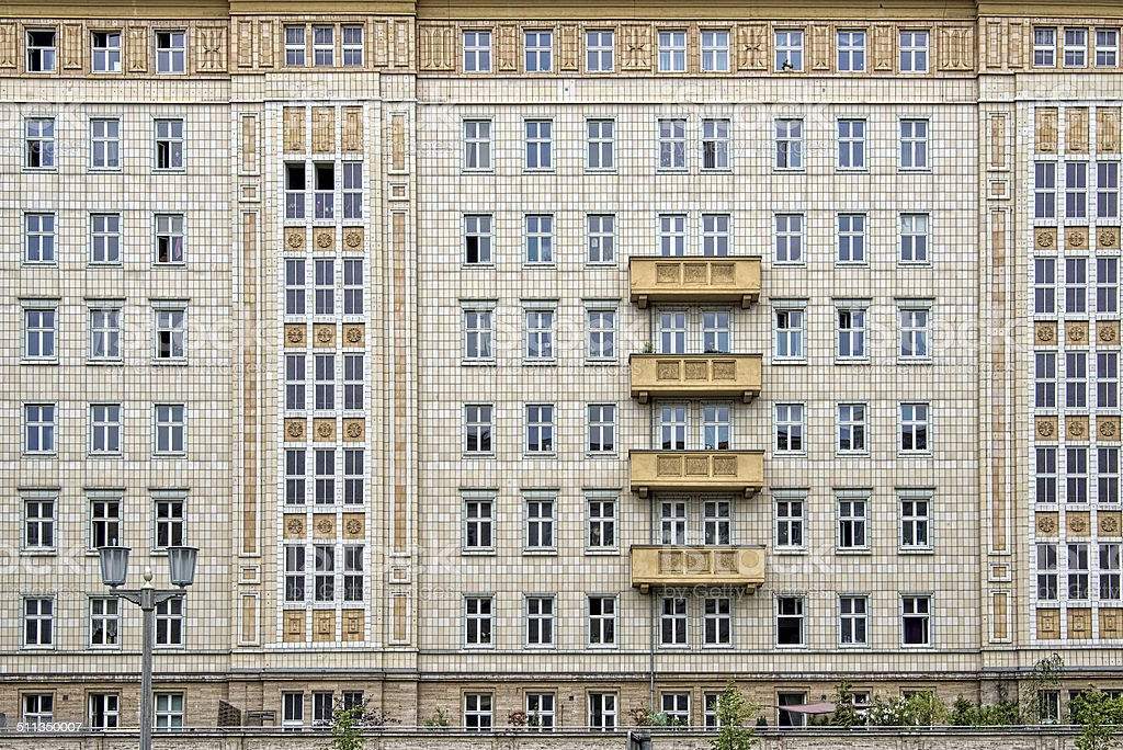 Socialist architecture on Karl Marx Allee, Berlin, Germany stock photo