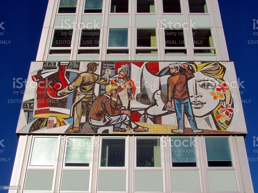 Sozialistischen Kunst in Berlin - Lizenzfrei 2015 Stock-Foto