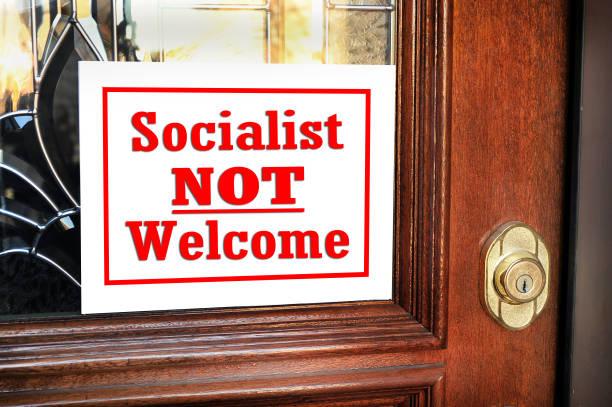 社会主義者は歓迎しない。 - 共産主義 ストックフォトと画像