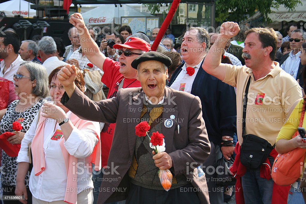 Socialist Party Rally stock photo