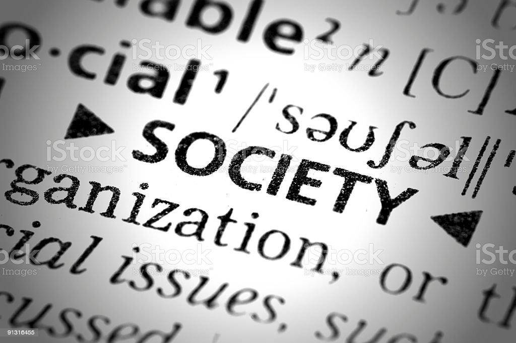 Society Text royalty-free stock photo