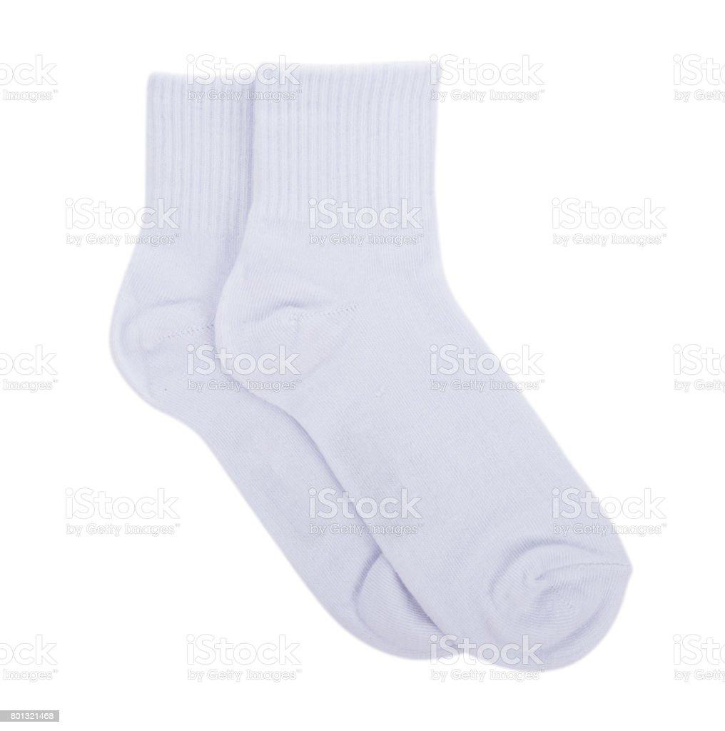sock isolated on white background stock photo
