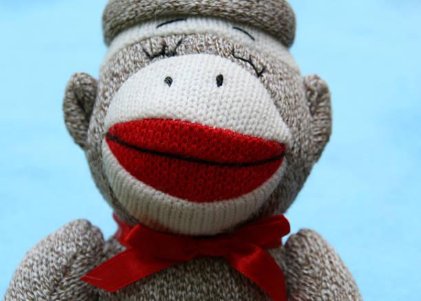 sock monkey - nähpuppen stock-fotos und bilder