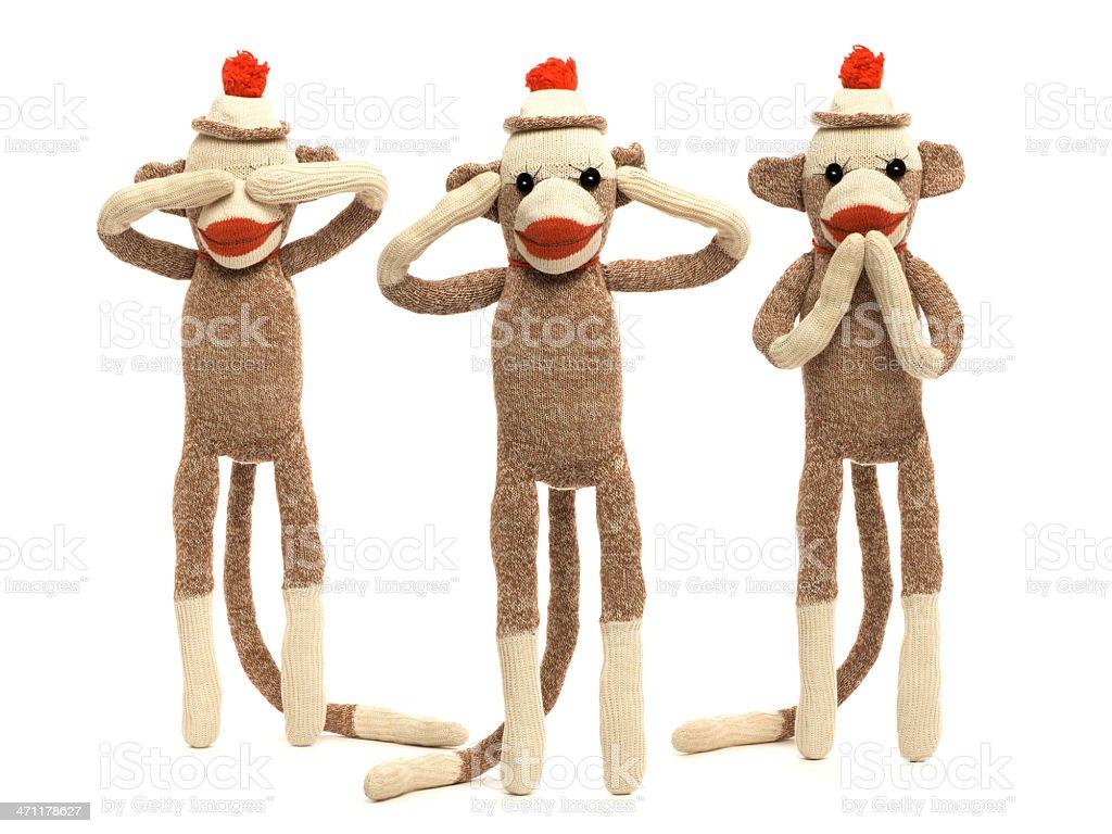 Sock Monkeys royalty-free stock photo