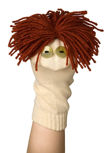 Sock puppet stock photo