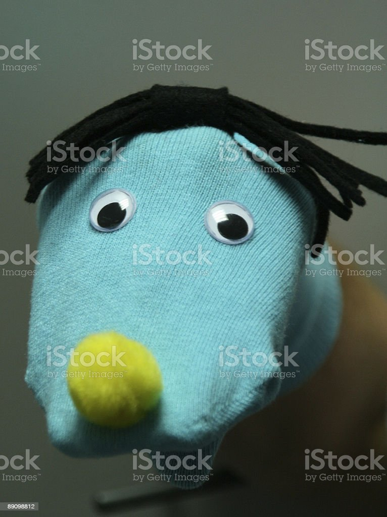 Sock puppet royalty-free stock photo