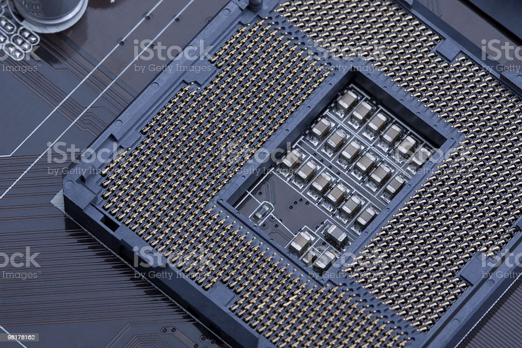 CPU socket 1156 royalty-free stock photo